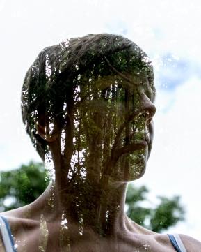 self portrait, elina eriksson, photographer in kabwe, double exposure